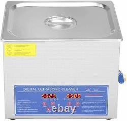 10L ULTRASONIC CLEANER NEW Digital Cleaning Machine HEATED 110V TANK 2.5G USA