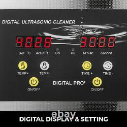 15L Ultrasonic Cleaner Heater Timer 600W 40KHz Jewelry Cleaning Machine