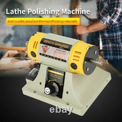 220V Mini Polishing Machine Jewelry Bench Motor Lathe Grinder Adjustable Speed