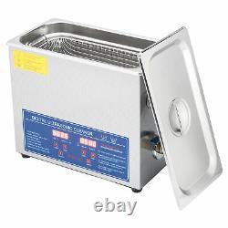 6L 1.6 GAL Digital Ultrasonic Cleaner Jewelry Polishing Machine with Timer Heater