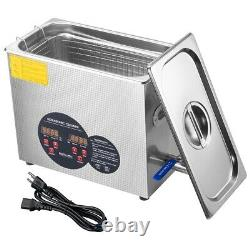 6L Industry Ultrasonic Cleaner Jewelry Dishware Cleaning Machine with Timer Heater