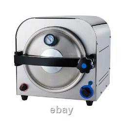 900W Dental Lab Autoclave Steam Sterilizer Medical Sterilization Machine 14L