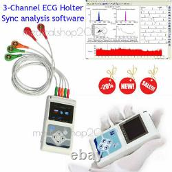 CONTEC 3-Channel 24 Holter Monitor ECG/EKG System Machine, pacemaker Analyzer