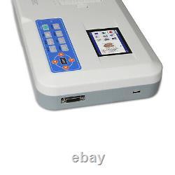 CONTEC ECG300G Digital 3 Channel 12 lead Electrocardiograph EKG Machine+ PC SW