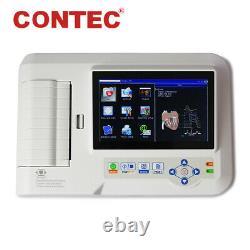 CONTEC ECG600G 6-Channel 12-lead ECG/EKG Machine Touch Electrocardiograph, Printe
