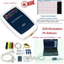 CONTEC8000G ECG Workstation System, Portable 12-lead Resting PC base EKG Machine