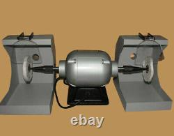 Dental Jewelry Polishing Polisher Bench Lathe Buffing Machine 2 Dust Hoods 550W