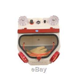 Dental Lab Equipment Twin-Pen Sandblaster Electric Sand Blasting Machine