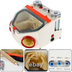 Dental Lab Twin-pen Sand Blaster Double Pen Fine Sandblaster Blasting Machine US