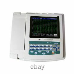 Digital 12-lead 12-channel ECG/EKG Machine Electrocardiograph, interpretation, NEW