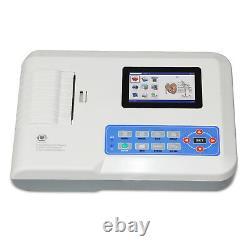 Digital 3 Channel 12 lead ECG/EKG machine+PC software Electrocardiograph 300G
