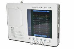 Digital 3-channel 12-lead Electrocardiograph ECG EKG Machine w interpretation