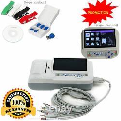 Digital 6 Channel 12 lead ECG/EKG machine +software Electrocardiograph Touch CE