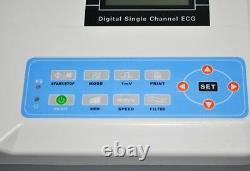 Digital ECG machine Portable 12-lead one-channel EKG electrocardiograph Newest