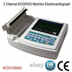 Digital Electrocardiograph 12 Channel 12 Lead ECG EKG Machine Software CE FDA