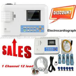ECG Machine 100G Single Channel 12 lead EKG Electrocardiograph, Printer, CE/FDA