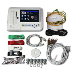 ECG600G 6-Channel 12-Lead Digital Cardiology EKG ECG Machine+PC Software CE FDA