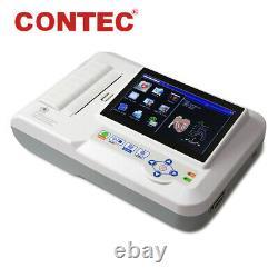 ECG600G Touch Color 6 Channel 12 lead ECG/EKG Machine Electrocardiograph+ USB SW