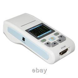 ECG90A Handheld 12-lead Electrocardiograph ECG/EKG Machine PC software USA NEW