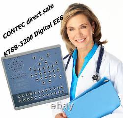 EEG Machine Digital Brain Mapping Systems 32 Channel Video+SPO2+SW KT88-3200, HOT