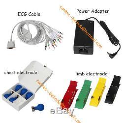 FDA CONTEC ECG90A 12-lead ECG Machine Electrocardiograph Touch+Software, Printer