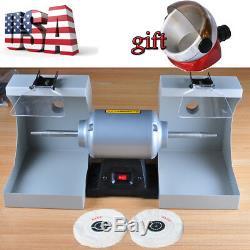Jewelry Polishing Lathe Buffing Machine For Dental Lab w Dust Hood+Suction Base