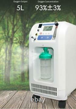 Medical Respiratory O2 Monitor Filter Oxygen Output Machine 5L Humidifier Alarm