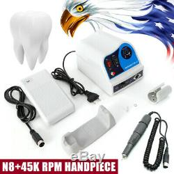 New Dental Lab Polishing Polisher Micromotor Machine + 45K RPM Handpiece