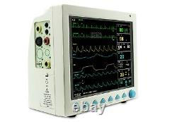 Patient Monitor 6-parameter ICU CCU Vital Sign Cardiac Machine with bag/case