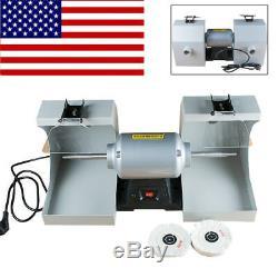 Polisher Polishing Machine Dental Laboratory Lathe Buffing Grinder for Jewelry