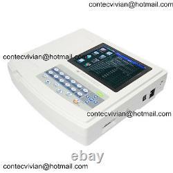 Portable Digital Touch 12-channel 12-lead ECG EKG machine Electrocardiograph +SW