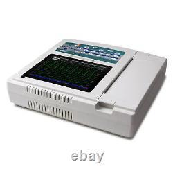Portable ECG/EKG Machine Digital 12 Channels 12 lead Electrocardiograph, Touch, US