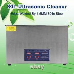Professional 30L Ultrasonic Cleaning Jewelry Cleaner Machine with Heater &Timer