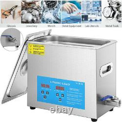 Professional Digital Ultrasonic Cleaner Machine with Timer Heated Cleaning 6L