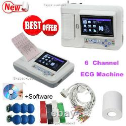 Touch Digital 6 Channel 12 lead ECG/EKG machine Electrocardiograph PC software