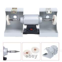 US Dental Lab Polishing Machine 110V Jewelry Buffing Grinder Dual-Lathe 550W New
