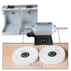 US Dental Lab Polishing cast Lathe Machine Lab Equipment LZQ-2 & Double 2Tops