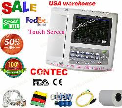US Digital 12-channel/lead Electrocardiograph ECG/EKG Machine interpretation FDA