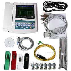 US Digital 12-lead 12-channel Electrocardiograph ECG/EKG Machine, interpretation