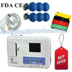 US Seller Digital 3 Channel 12 lead ECG/EKG machine Electrocardiograph+ software