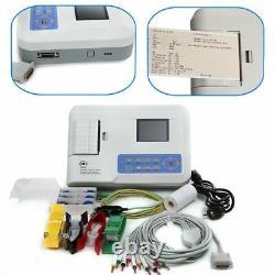 US Seller! Portable ECG/EKG machine 12-Leads 3-Channel+Printer&Paper, Software, new