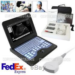 USA Fedex, CONTEC CMS600P2 Ultrasound Scanner Laptop Machine 3.5Mhz Convex Probe