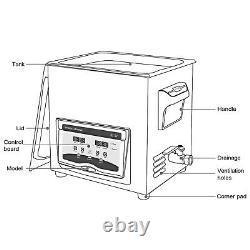 Ultrasonic Cleaner Jewelry Cleaner Machine 20L 210/420W Digital Sonic Cleaner