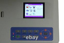 VET Veterinary 3 Channel EKG ECG Machine electrocardiograph Printer Software