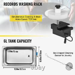 VEVOR Ultrasonic Vinyl Record Cleaner Vinyl Ultrasonic Cleaning Machine 6L Knob
