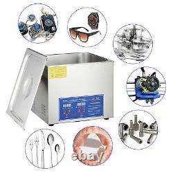 15l Ultrason Nettoyeur Bijoux Nettoyage Machine Chauffage Avectimer Pap