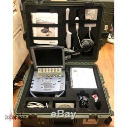 2012 Portable Sonosite M-turbo Machine À Ultrasons Avec Étui De Transport 2 Sondes