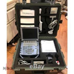 2013 Portable Sonosite M-turbo Machine À Ultrasons Avec Étui De Transport 2 Sondes Case-