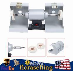 550w Jewelry Polisher Burnishing Dental Lab Polishing Machine Buffing Grinder Us