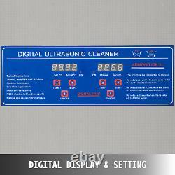 6l Ultrasonic Vinyl Record Cleaner Machine De Nettoyage Complète Avec Rack De Séchage